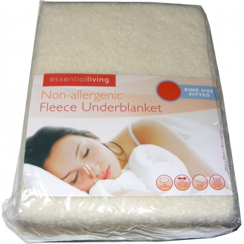 King Size Fitted Thermal Fleece Underblanket Mattress